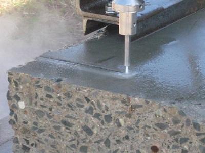 thi công cắt phá bê tông bằng tia nước áp suất cao